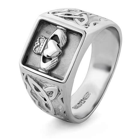 mens silver claddagh ring ms clad33