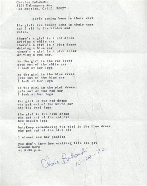 Bathtub Brand Charles Bukowski Manuscript