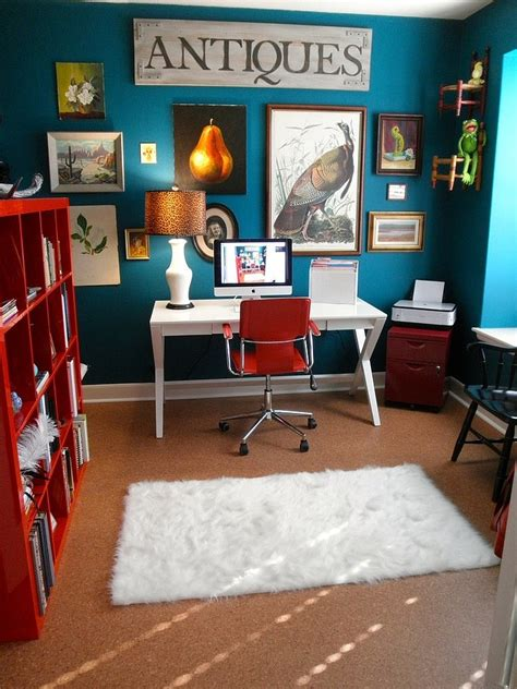 Interior Color Schemes For Homes 10 eclectic home office ideas in cheerful blue