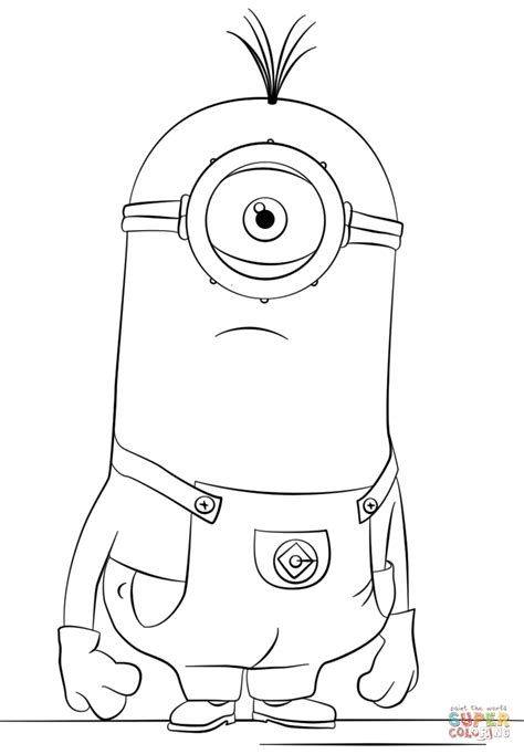 minions stuart playing guitar coloring page minion carl drawing www pixshark com images galleries