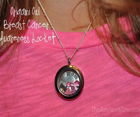 Origami Owl Necklace Cost - origami owl breast cancer necklace