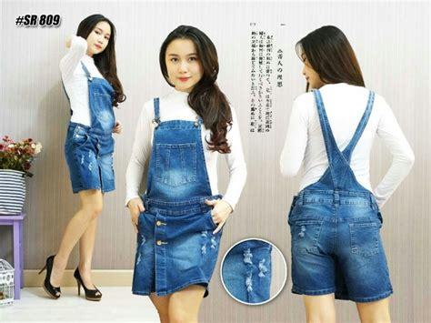 Celana Overall Wanitacelana Kodok Sr798 Big Size Xl Xxxl jumpsuit skort 2in1 rok dan celana kodok 809