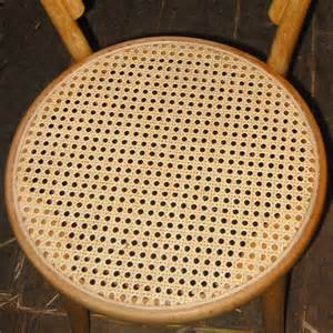 This thonet style bent wood chair has had the sheet cane seat restored