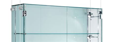glass display cabinet the design tabloid suspended glass display cabinets custom made shopkit