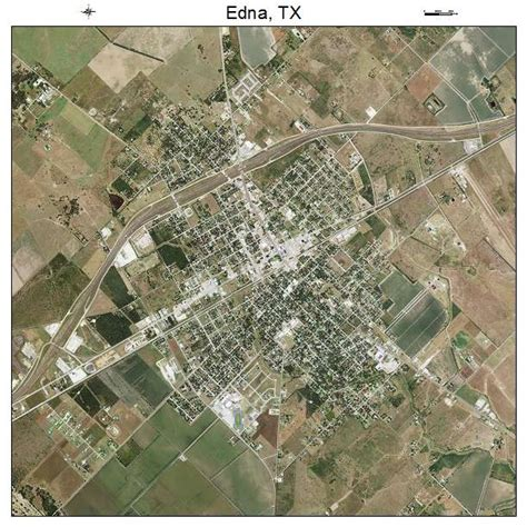 edna texas map aerial photography map of edna tx texas