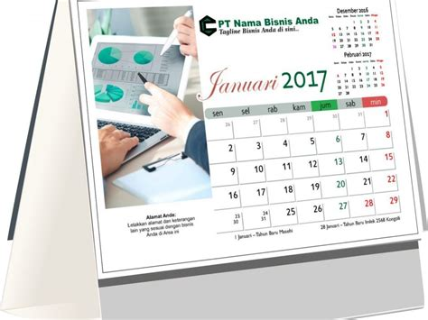 design kalender meja desain kalender meja 2017 tema bisnis free download