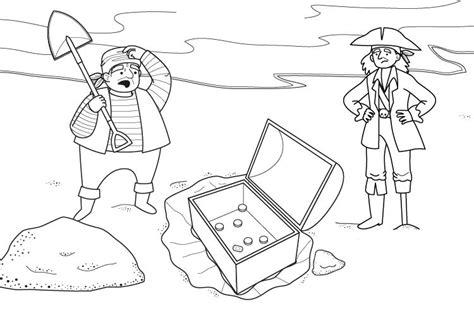 dibujo de un tesoro tesoro en un cofre dibujo para colorear e imprimir