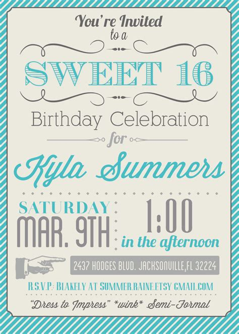 sweet 16 invitation card templates sweet 17 invitation card template various invitation
