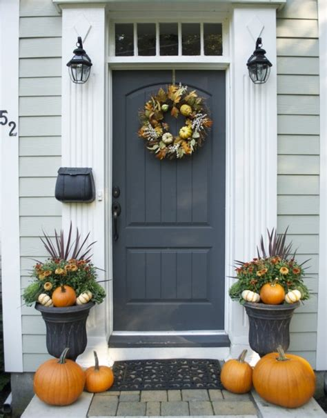 Front Door Wall Decor by 67 And Inviting Fall Front Door D 233 Cor Ideas Digsdigs
