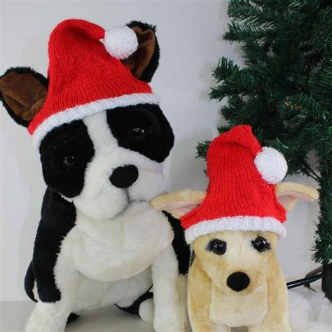 free dog christmas santa hat knitting pattern by