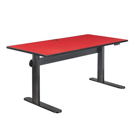 schreibtisch rot height adjustable dynamiq desk furniture avteq