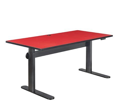 roter schreibtisch height adjustable dynamiq desk furniture avteq
