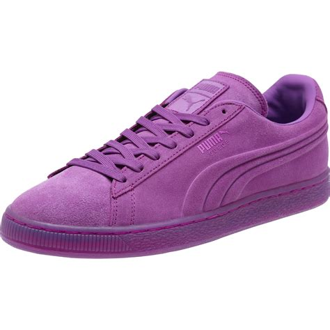 mens purple sneakers lyst suede embossed iced fluo s sneakers in