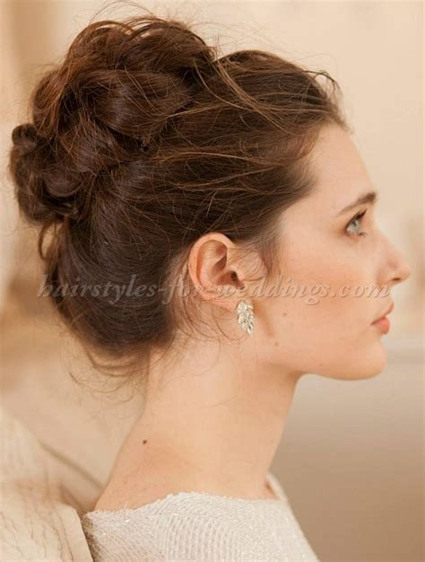 Bridal Bun Hairstyles by Top Bun Wedding Hairstyles High Bun Bridal Hairstyle