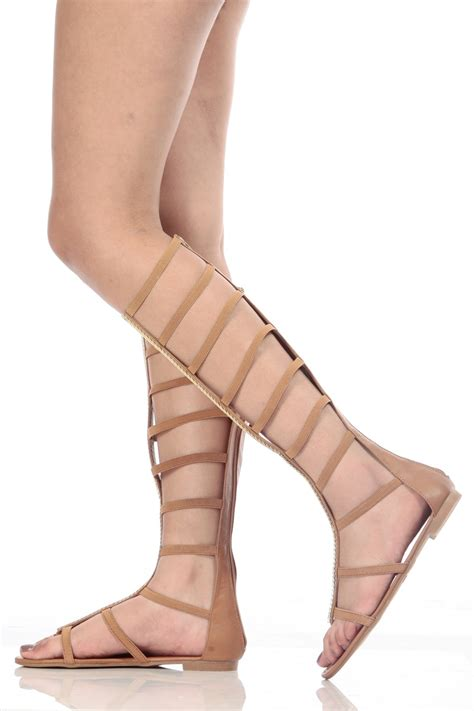 dollhouse zeus elastic gladiator sandals faux leather caged elastic gladiator sandals