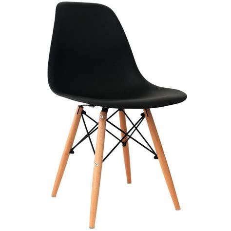 des chaises pas cher lot de 4 chaises design noir achat vente chaise salle a manger pas cher couleur et