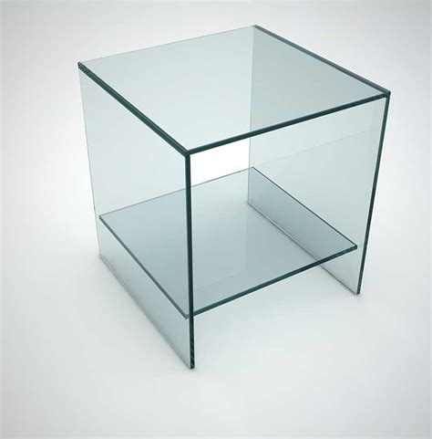 Side Table Shelf by Judd Glass Side Table With Low Shelf Klarity Glass