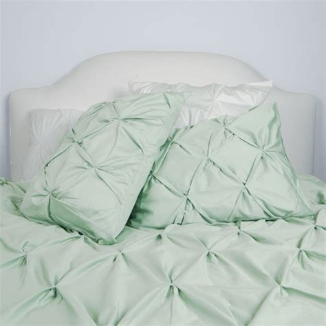 Seafoam Green Duvet Cover 400 thread count pintuck duvet cover the valencia sea foam green modern duvet covers and