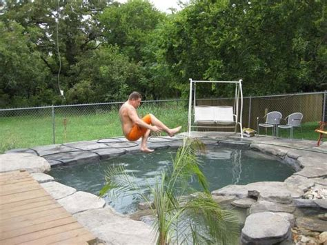 Dude Backyard by A Built A Diy Tropical Pool In His Backyard After His