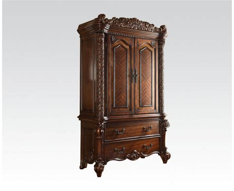 cherry finish armoire vendome 2 drawer tv armoire in ornate traditional cherry