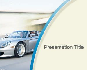 templates powerpoint cars free porsche powerpoint template