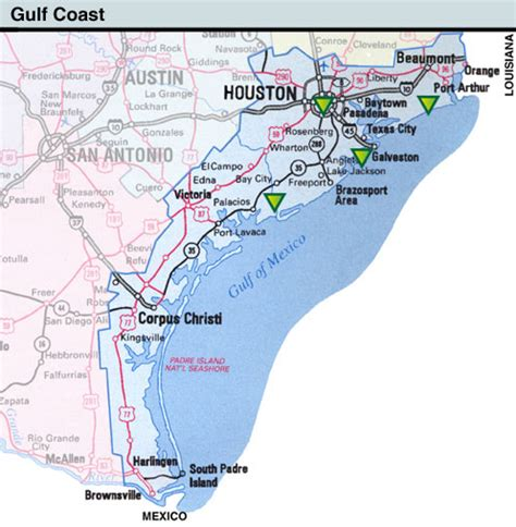 texas coastal map map texas coast swimnova