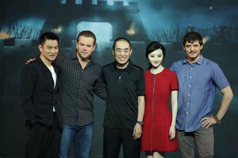 film china luhan matt damon andy lau luhan promote the great wall lainey