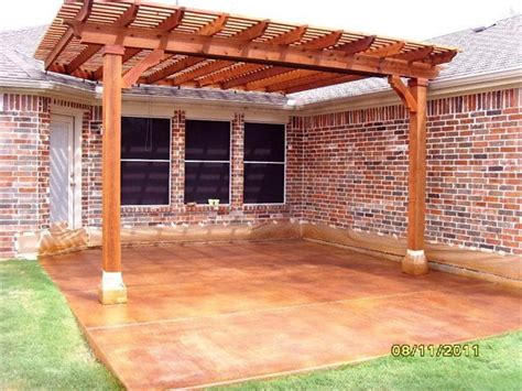 how to build a pergola on concrete acid stained concrete for the home