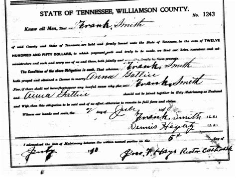 Smith County Marriage Records So Many Ancestors June 2015