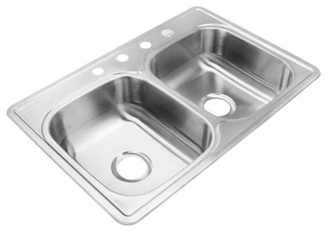 Kitchen Sink Depths Akdy 7 Quot Depth Ag Zt3322d074 Stainless Steel Bowl Top Mount Sink Kit With Modern