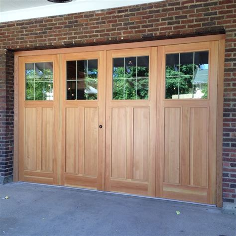 Bifold Overhead Doors Custom 9 X 14 Douglas Fir Bi Fold Garage Doors By The Plane Edge Llc Custommade