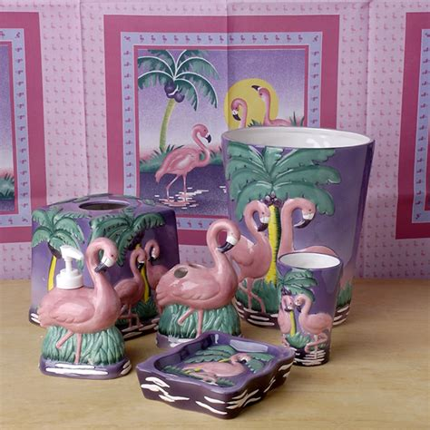 flamingo bathroom accessories set bath bath accessories