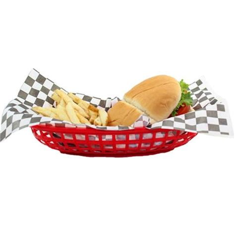 red oval deli basket 6 per pack via blossom