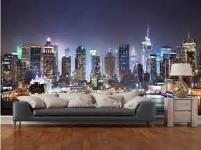 aliexpress com buy custom photo wallpaper new york manhattan skyline at night modern 3d murals