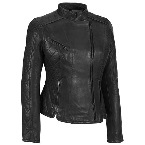 Quilted Leather Jacket Womens by Black Rivet Womens Asymmetric Quilted Sleeve Leather