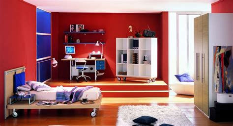 boys red bedroom ideas cool red boys bedroom design with blue accents interior