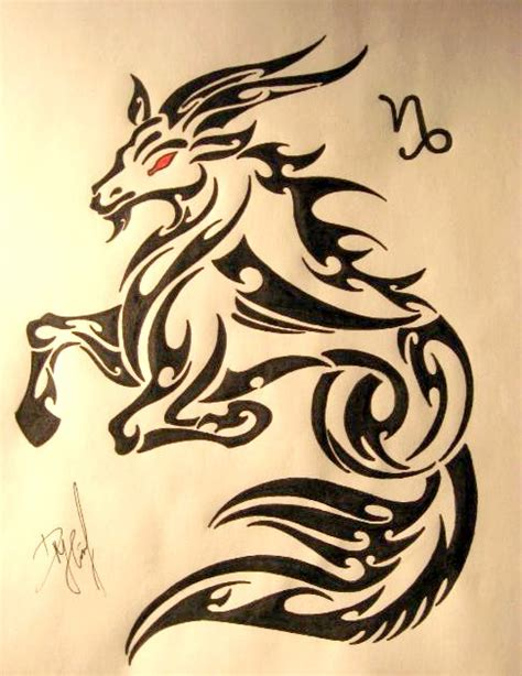 tattoo capricorn tribal amazing tribal capricorn