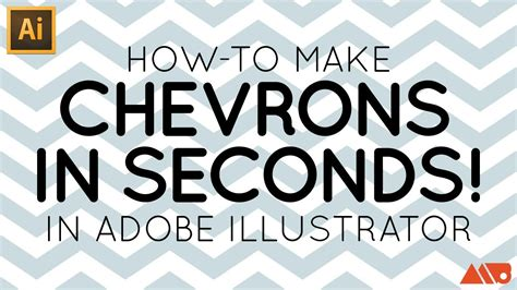 how to make a design adobe illustrator tutorial make a chevron in seconds