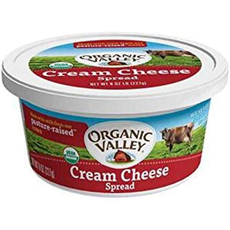 organic valley organic pasteurized cream cheese tub 8