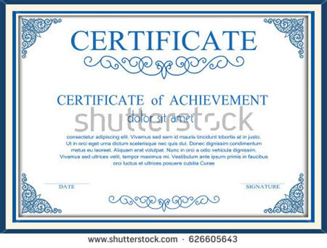 sle certificate of completion template certificate frame stock images royalty free images