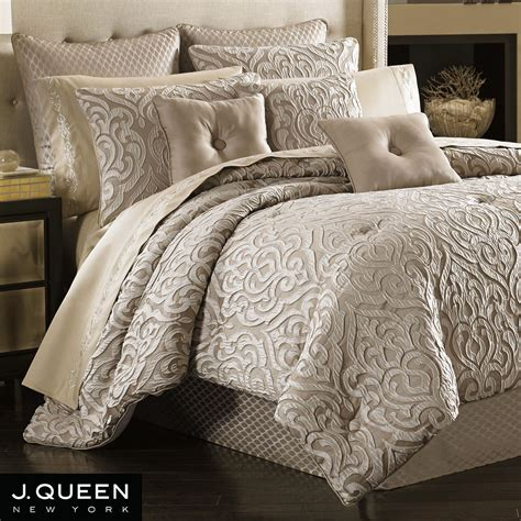 bed comforter sets queen astoria scroll comforter bedding by j queen new york