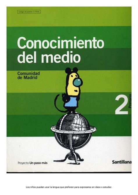 conocimiento medio 6 primaria timonel conocimiento medio 2 primaria santillana castellano un p