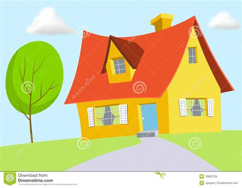 house design cartoon cartoon house stock illustration image of attic design 19802759