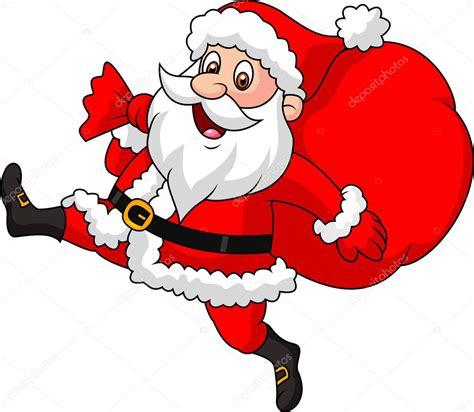 imagenes de santa claus con un niño weihnachtsmann cartoon ausgef 252 hrt mit der tasche der