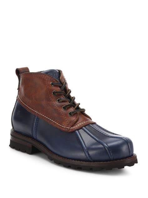 duck boots for lyst frye warren low duck boots in blue for
