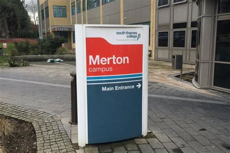 south thames college morden teenager stabbed outside south west london college crime