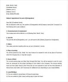 appointment letter template 28 appointment letter format for business development