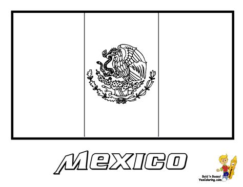 printable flags of the world black and white mexico flag coloring page you have all the mexico