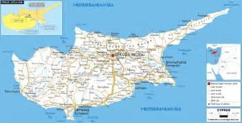 road map of cyprus ezilon maps