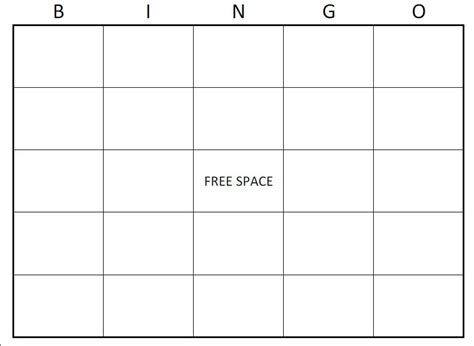 Free Bingo Card Template Large Printable Blank Bingo Cards Recipes To Cook Bingo Bingo Bingo Card Template 5x5